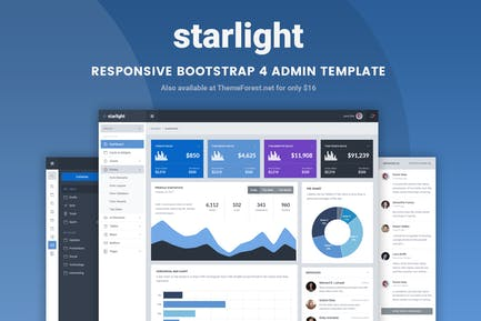 Starlight Responsive Bootstrap 4 Admin Template