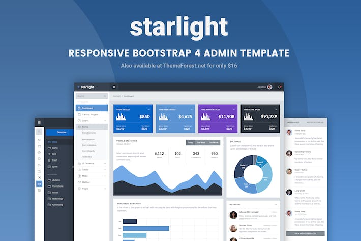 Thumbnail for Starlight Responsive Bootstrap 4 Admin Template