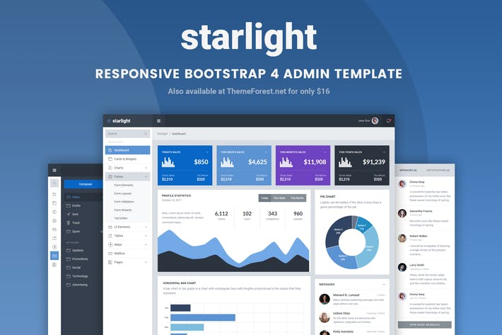 Cover Image For Starlight Responsive Bootstrap 4 Admin Template