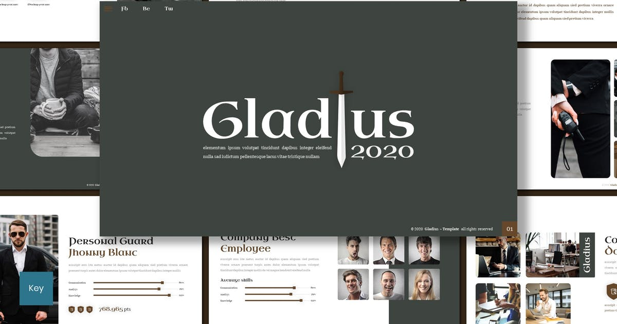Download Gladius - Keynote Template by inspirasign