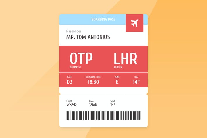 Thumbnail for Airplane Boarding Pass