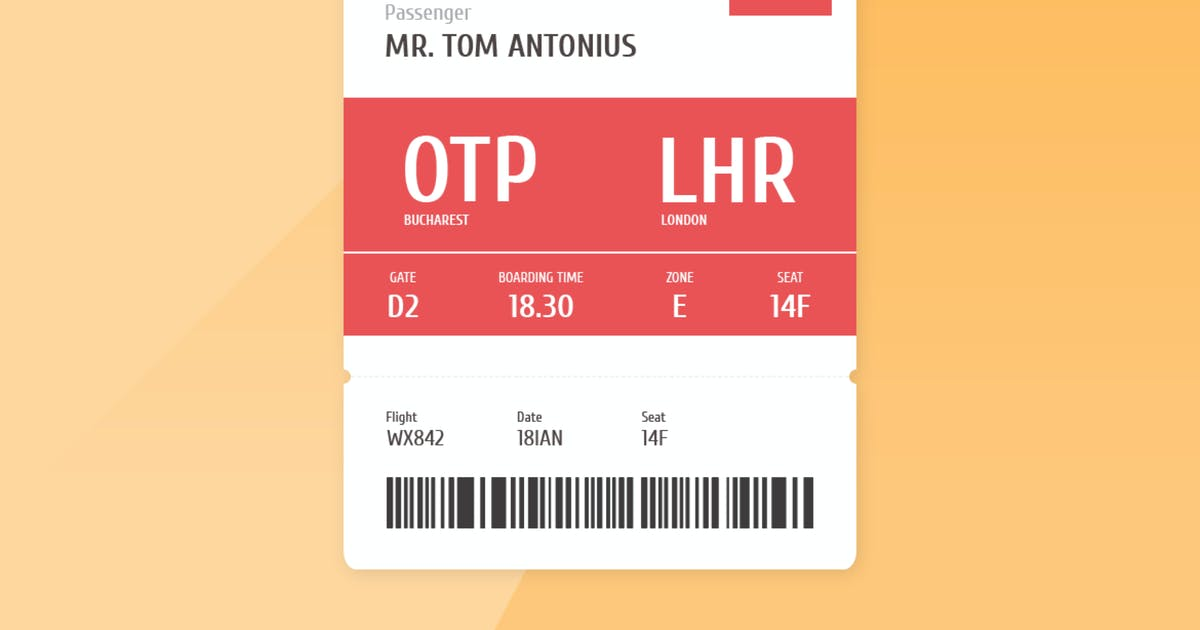Download Airplane Boarding Pass by cerpow