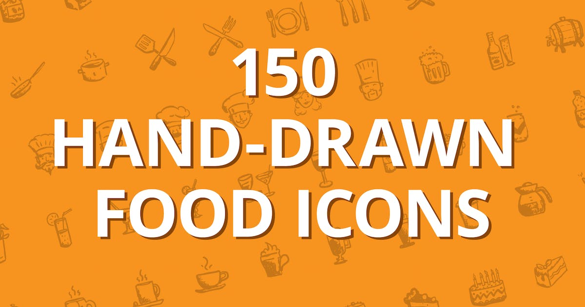 Download 150 hand-drawn food icons by heloholo