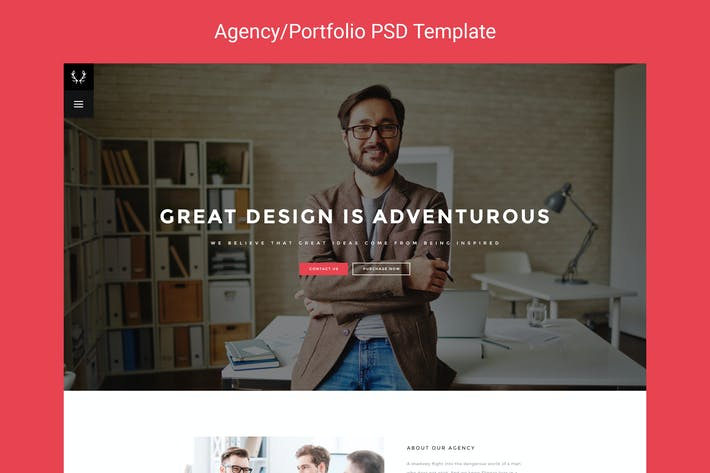 Thumbnail for Lupill - Agency/Portfolio PSD Template