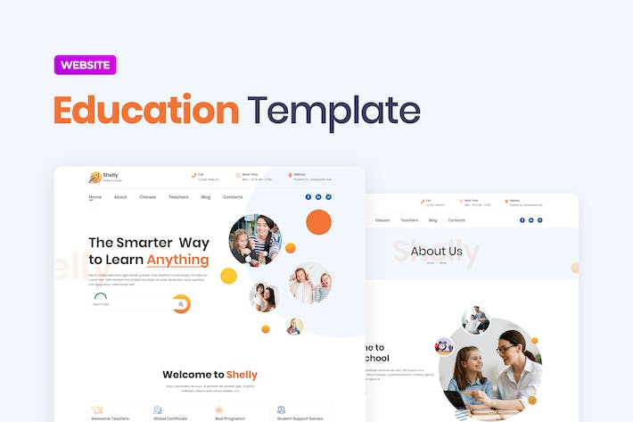 Thumbnail for School Website Template