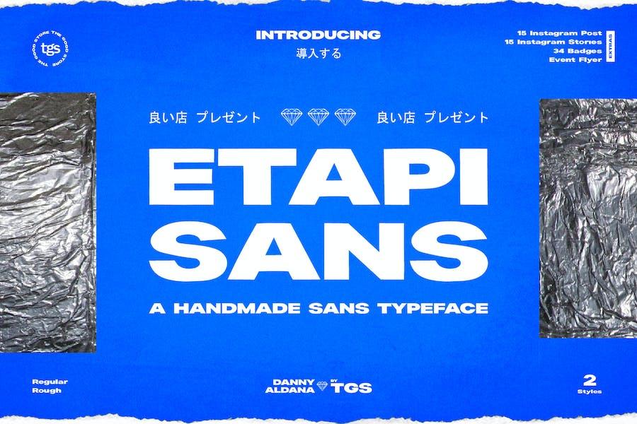 Etapi Sans + Extras (Social Media Pack & Badge)