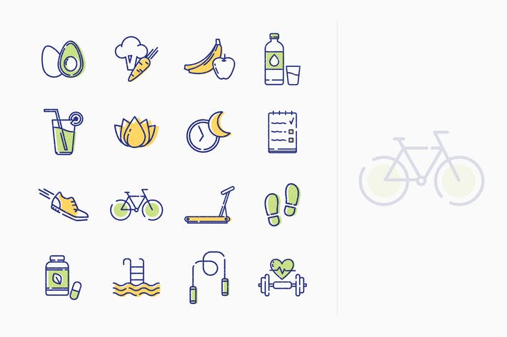 Thumbnail for Healthy Lifestyle Icons - Outline Series