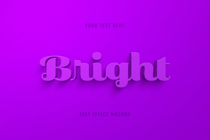 Thumbnail for Bright 3D Text Effect
