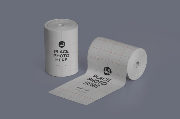 Thumbnail for Thermal Paper Roll Realistic Mockup