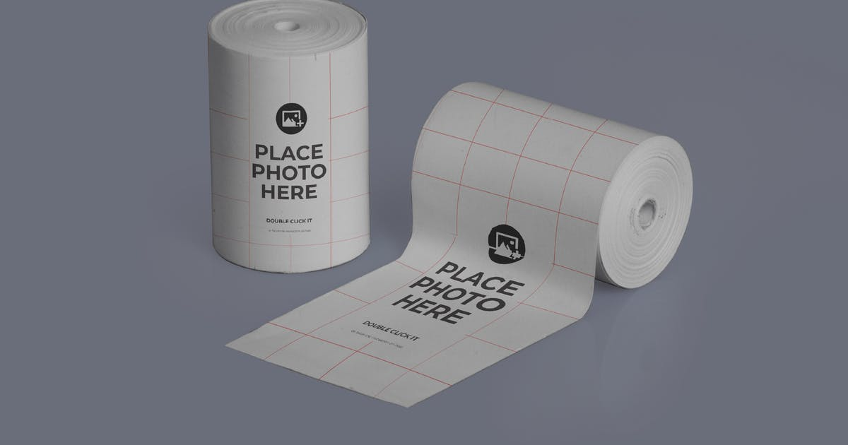 Download Thermal Paper Roll Realistic Mockup by celciusdesigns