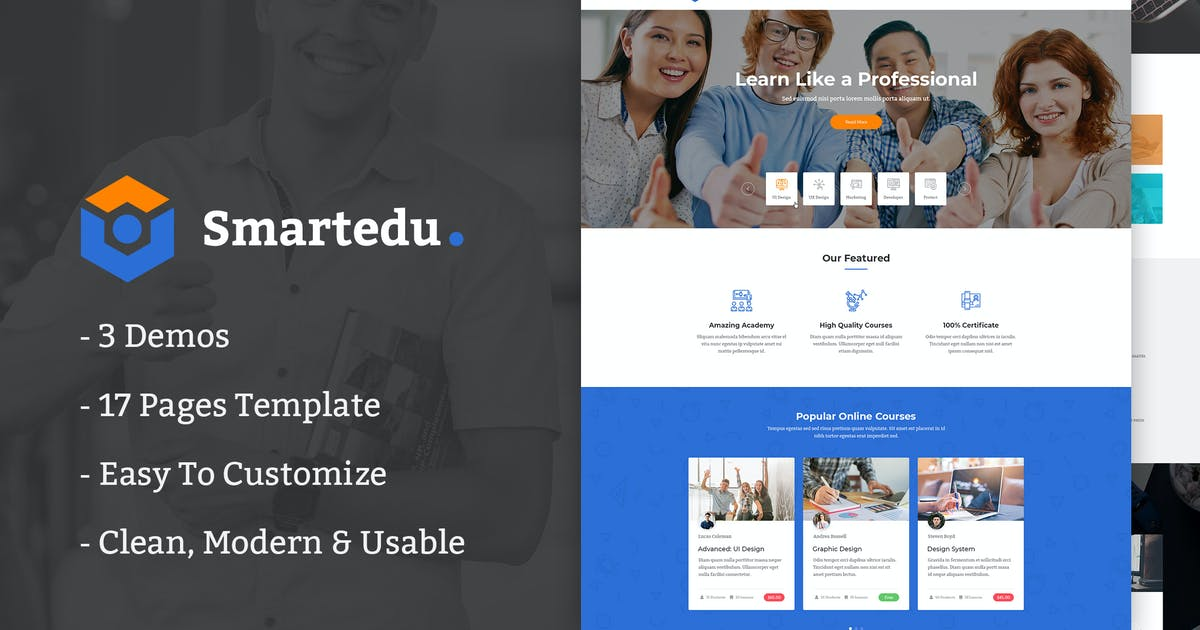 Download SmartEdu   Education & Courses HTML Template by AuThemes