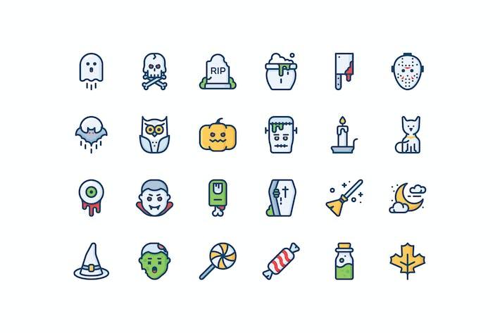 Thumbnail for 24 Halloween icons
