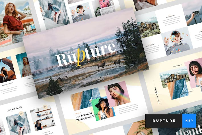 Thumbnail for Rupture - Creative Agency Keynote Template