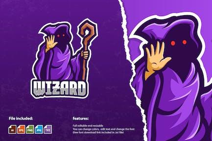 Die Zauberer-Maskottchen-Logo-