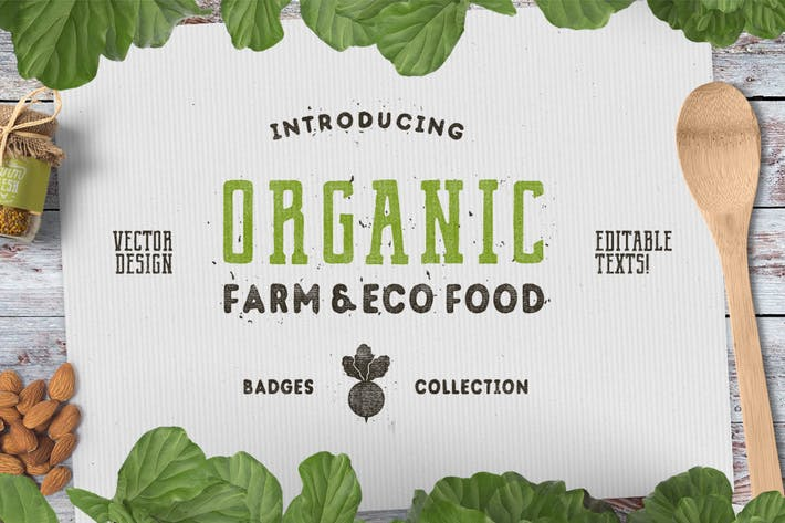Thumbnail for Organic Farm Logo & Eco Food Retro Badges / Icons