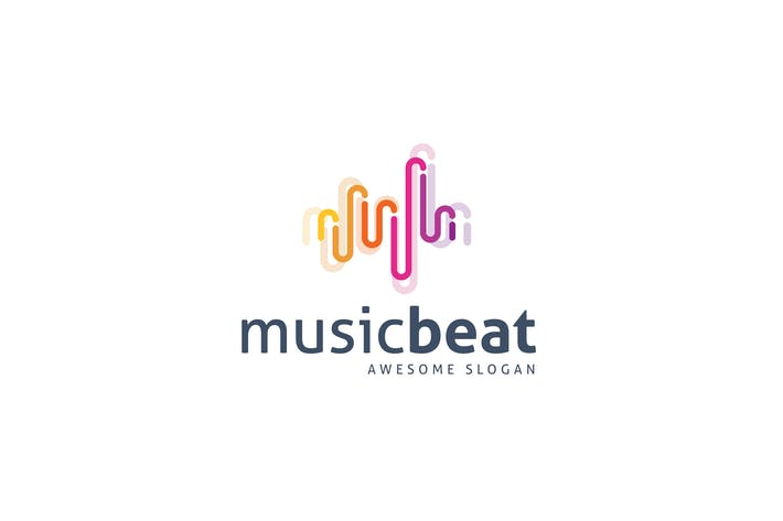 Thumbnail for Music Beat Logo Template