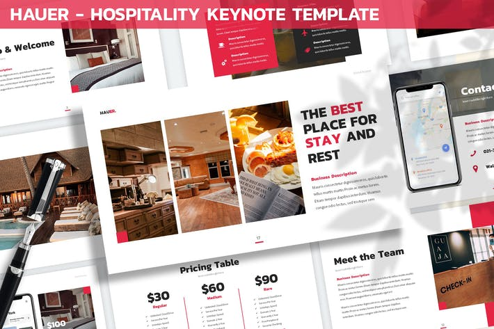 Thumbnail for Hauer - Hospitality Keynote Template