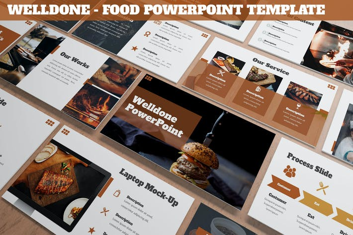 Thumbnail for Welldone - Food Powerpoint Template