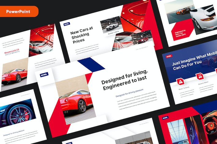 Thumbnail for MOBIL - Automotive Powerpoint Template