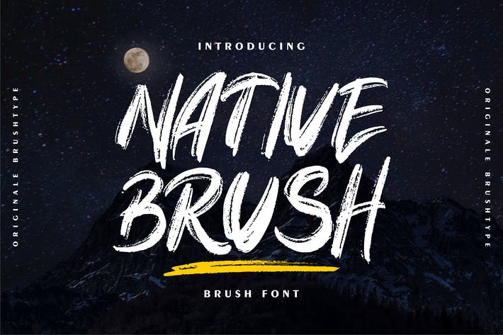 Thumbnail for Native Brush | Brush Font