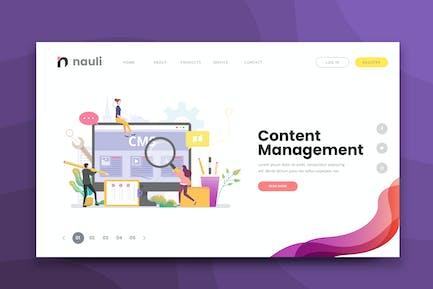 Modèle de Vecteur d'IA et de PSD Web de gestion de contenu