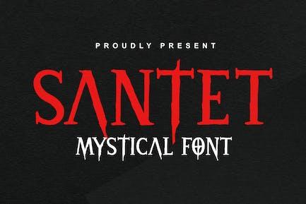 DS Santet - Mistical Font