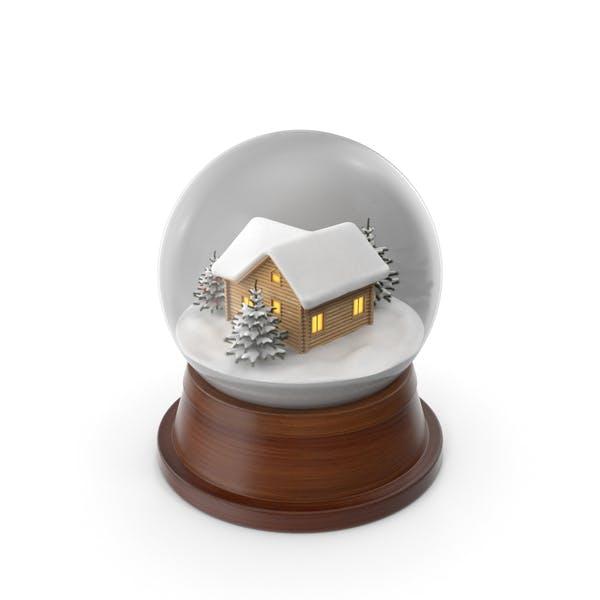 Weihnachts-Schneekugel mit Haus