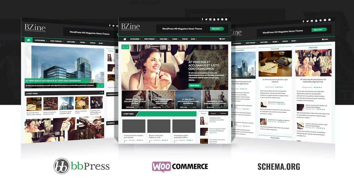 Download Bzine - WordPress Premium HD Magazine by WPBootstrap