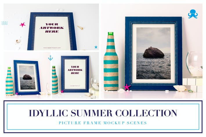 Thumbnail for Idyllic Summer Collection - Frame Mockups