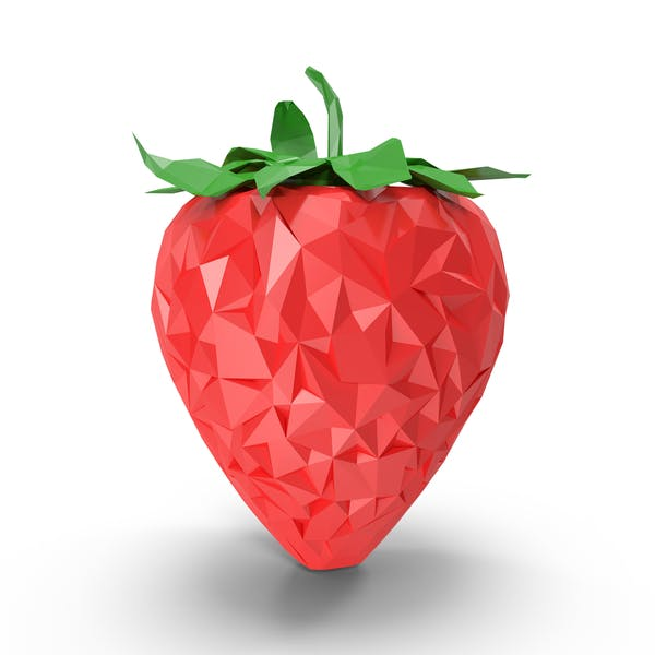 Thumbnail for Low Poly Strawberry
