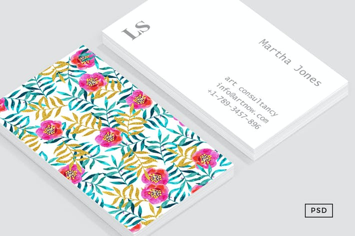 Thumbnail for Floral II Business Card Template