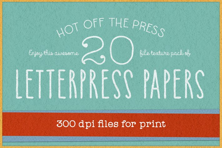 Thumbnail for 300 dpi KD Letterpress Paper Textures Pack