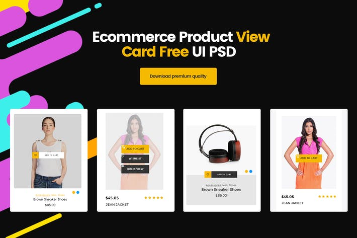 Thumbnail for Ecommerce Product View Card UI PSD Template