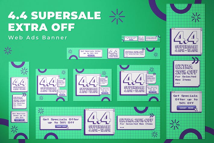 4.4 Supersale - Web Ads Banners