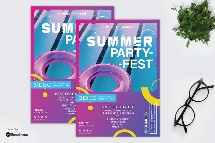 Thumbnail for Sumfest - Summer Event and Music Flyer HR