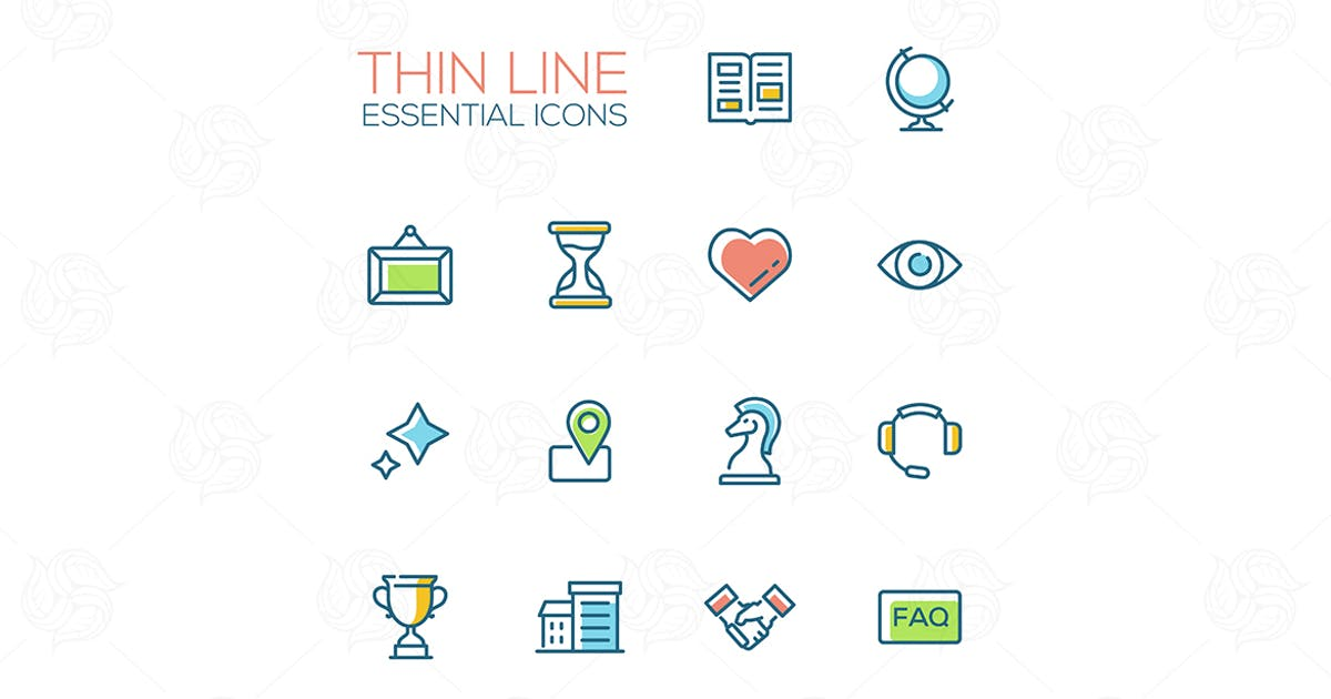 Business - Thin Single Line Icons Set by BoykoPictures