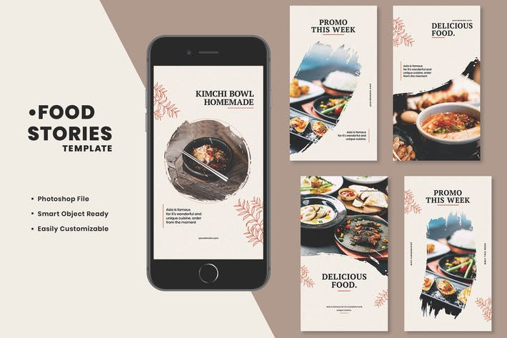 Thumbnail for Asian Food Instagram Stories Template