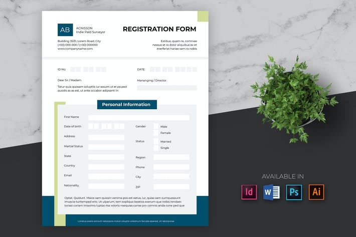 Thumbnail for Clean Business Registration Form