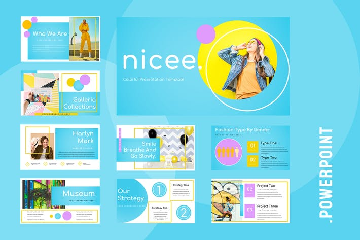 Cover Image For Nicee - Colorful Powerpoint Presentation