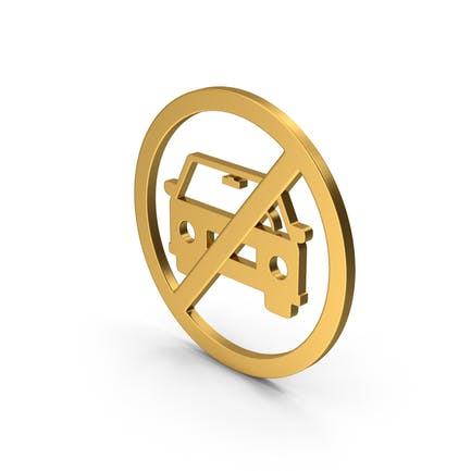 Symbol No Car Gold