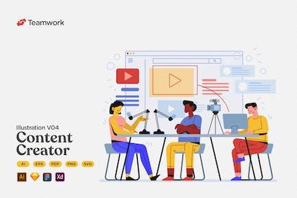 Teamwork - Creating Content for Social Media
