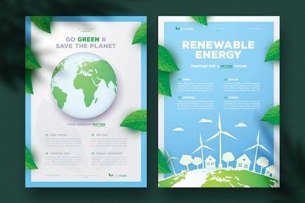 Modèles de dépliant écologiques