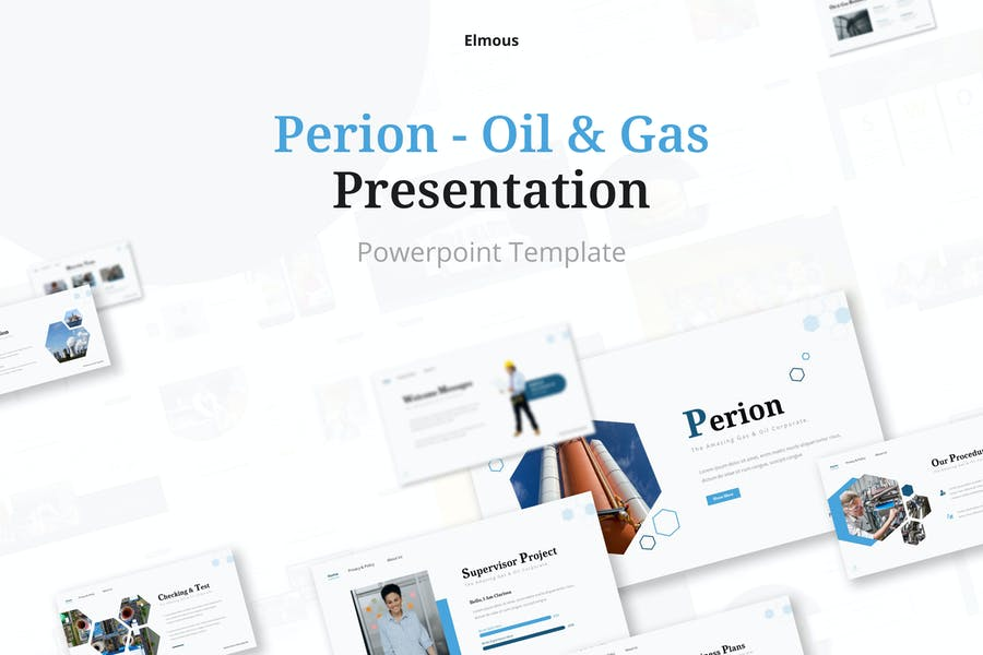Perion Gas & Oil Powerpoint Presentation Template