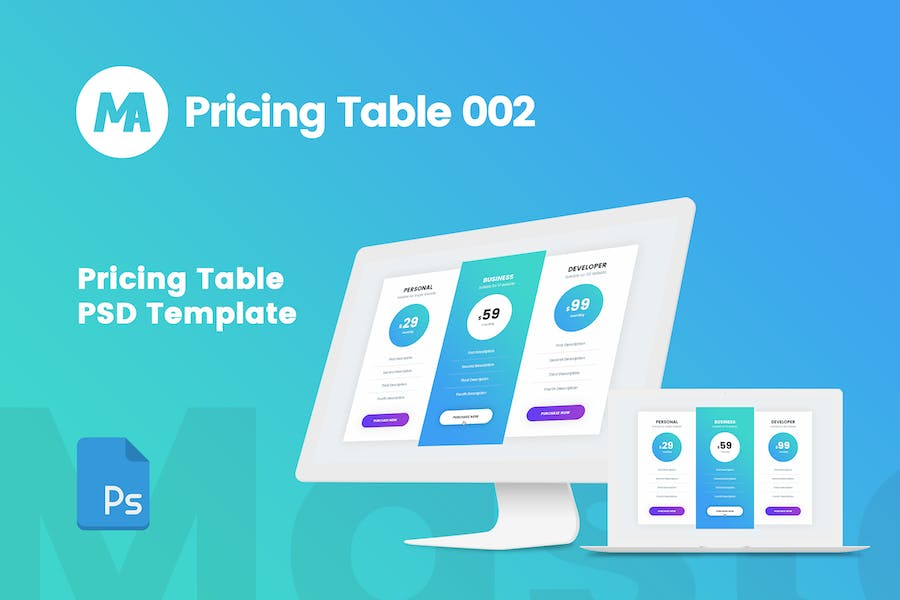 MA - Pricing Table 002
