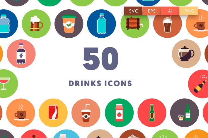 Thumbnail for 50 Drinks Icons