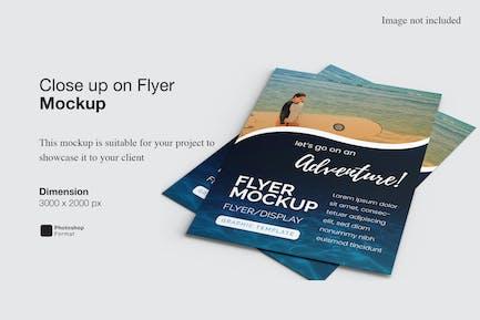 Close up on Flyer Mockup