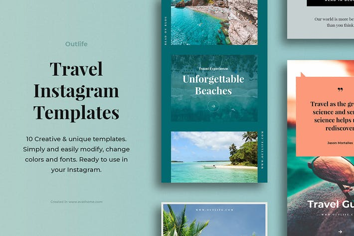 Thumbnail for Outlife Travel Instagram Templates