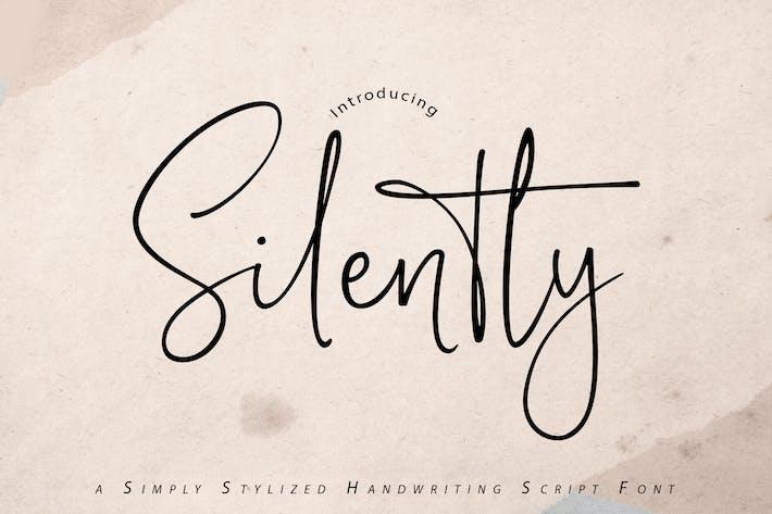 Silently | Fuente de escritura a mano