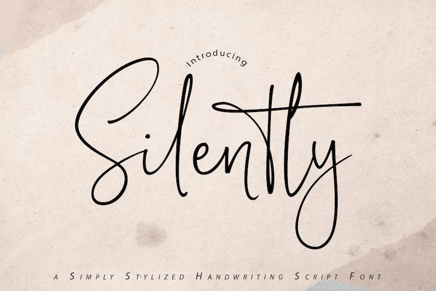 Silently   Handwriting Script Font