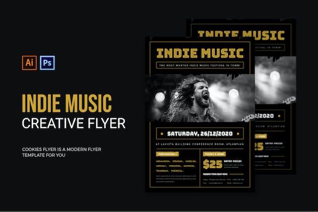 Indie Music - Flyer